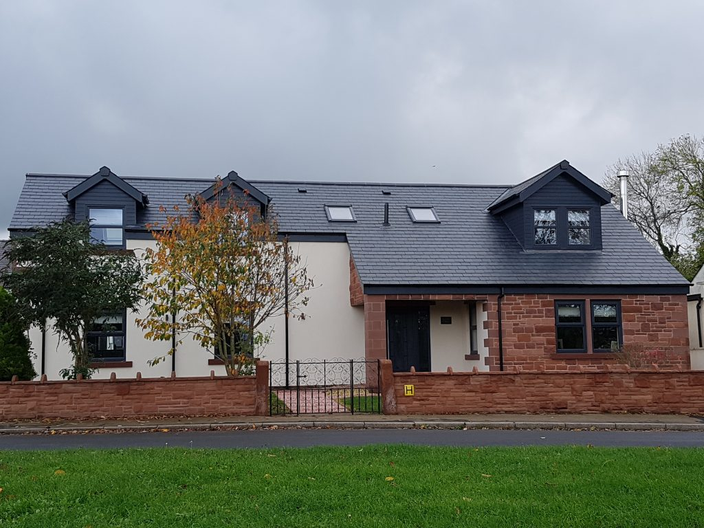 Dorma Bungalow Using Calidad30 Roofing Slates Jrc