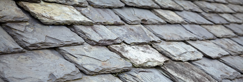 Slates on the roof