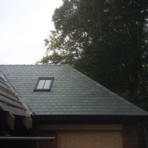 JRC's Portarana capped green ridge tiles