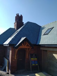 JRC's Portarana ridge tiles fitted on the roof