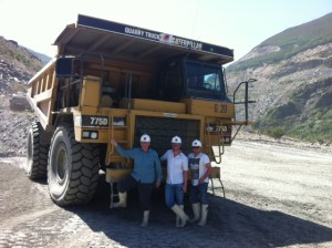 Large dumper truck at the Spanish slate quarry