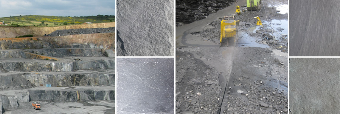 Images of slate quarries