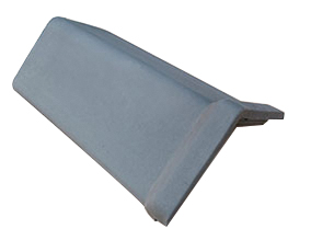 capped angle black ridge tile