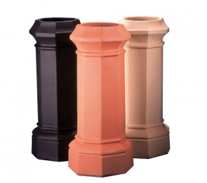 Clay Octagon chimney pots
