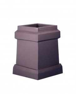 Square taper plain chimney pot