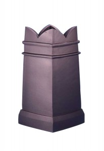 Square taper spiked chimney pot