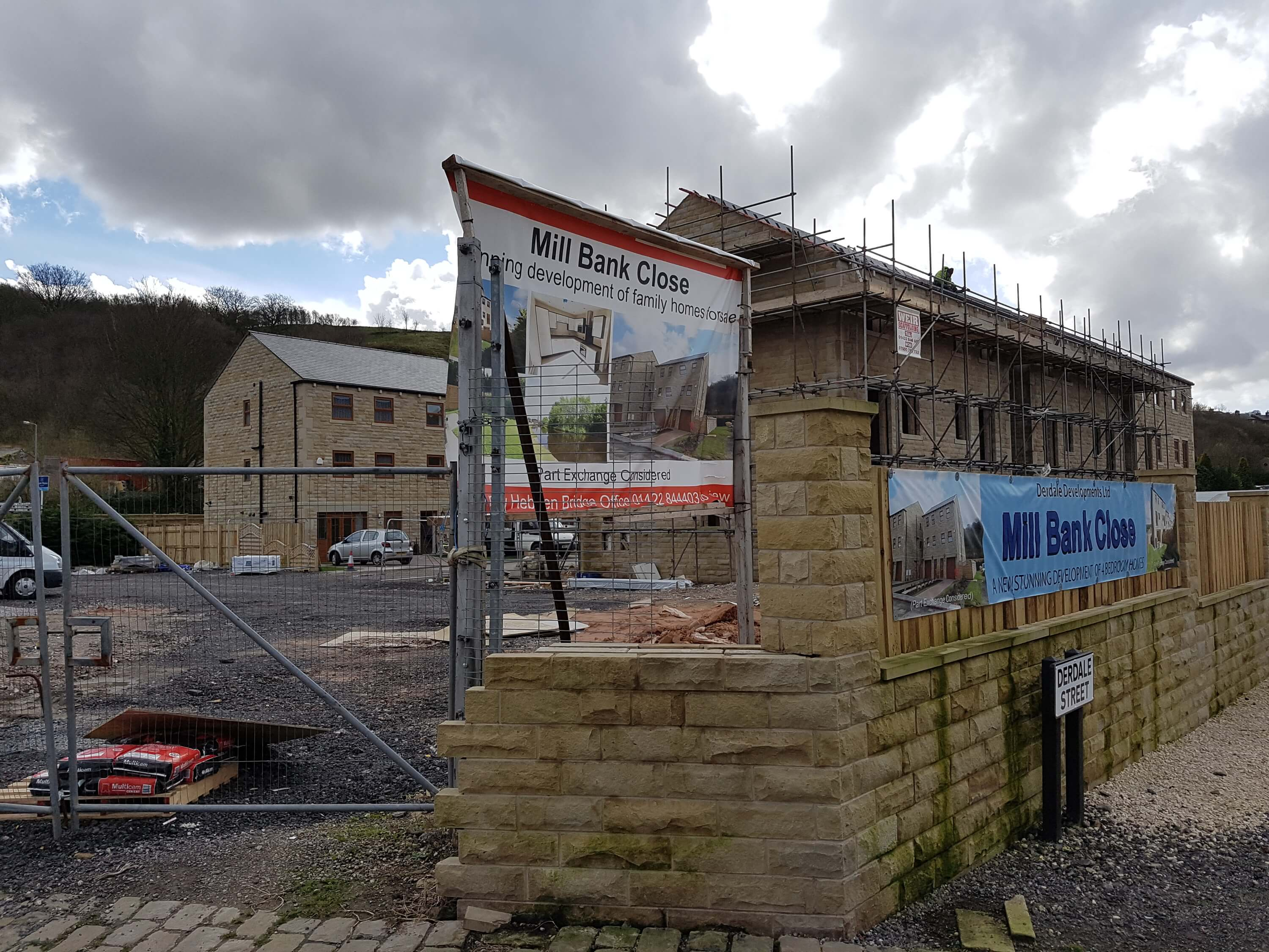 Mill Bank Close Construction Site