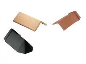 plain and capped angle ridge tiles