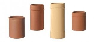Clay beaded flue terminals