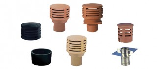 Clay gas flue terminal chimney pots