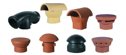 Chimney pot inserts for clay chimney pots