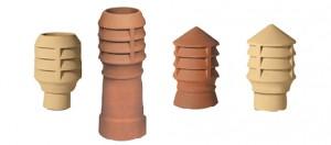 Louvre style chimney pots