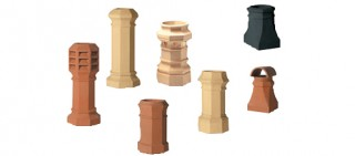 Octagon chimney pots