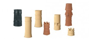 Clay ornamental chimney pots
