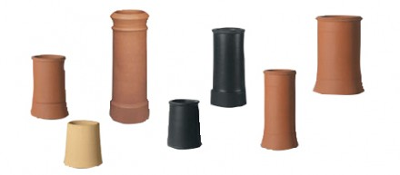 Clay round tapered chimney pots